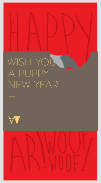 Woof Models Lucky Money Packets Happy Year of the Dog