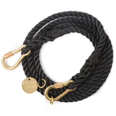 Adjustable Rope Leash, Black