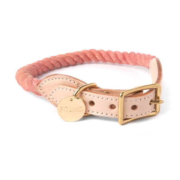 Rope and Leather Collar, Blush