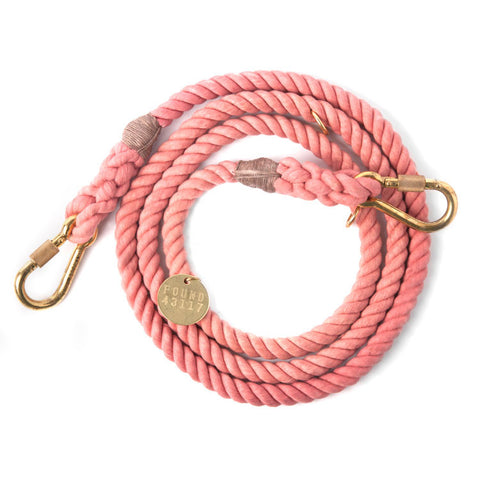 Adjustable Rope Leash, Blush