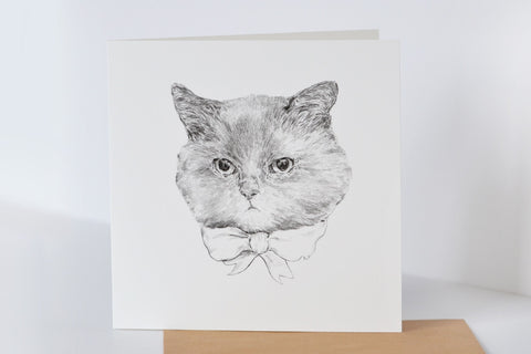 Greeting card: HelloHarriet Kitty