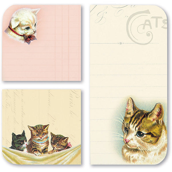 Stationery: Cavallini Vintage Cats Sticky Memo