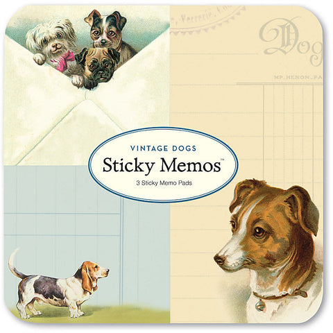 Stationery: Cavallini Vintage Dogs Sticky Memo