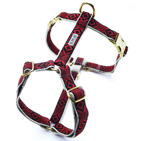 Out of My Box Harness: Vermillion and Black