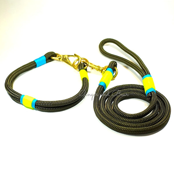 Rugged Hudson Leash: KeyLime, Olive