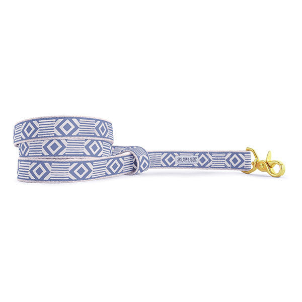 Out of My Box Leash, Lake Blue and Cream