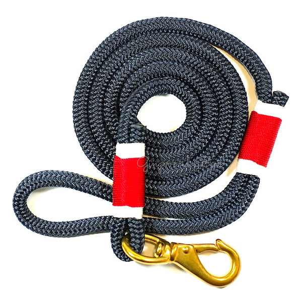Rugged Hudson Leash: Red&White Navy