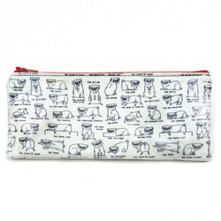 Stationery: Gemma Correll Pug Positions pencil case