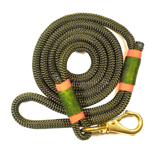Rugged Hudson Leash: Seaweed Olive