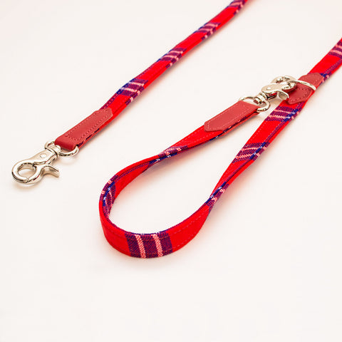 Hiro+Wolf Classic leash: Shuka Red Check