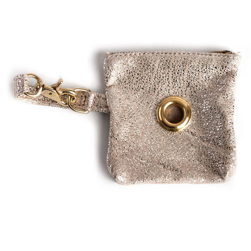 Multi-use Pouch: Leather, Metallic Sparkle