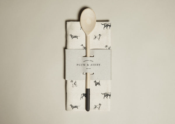 Tea towel and Wooden Spoon Gift Set: All Breeds print