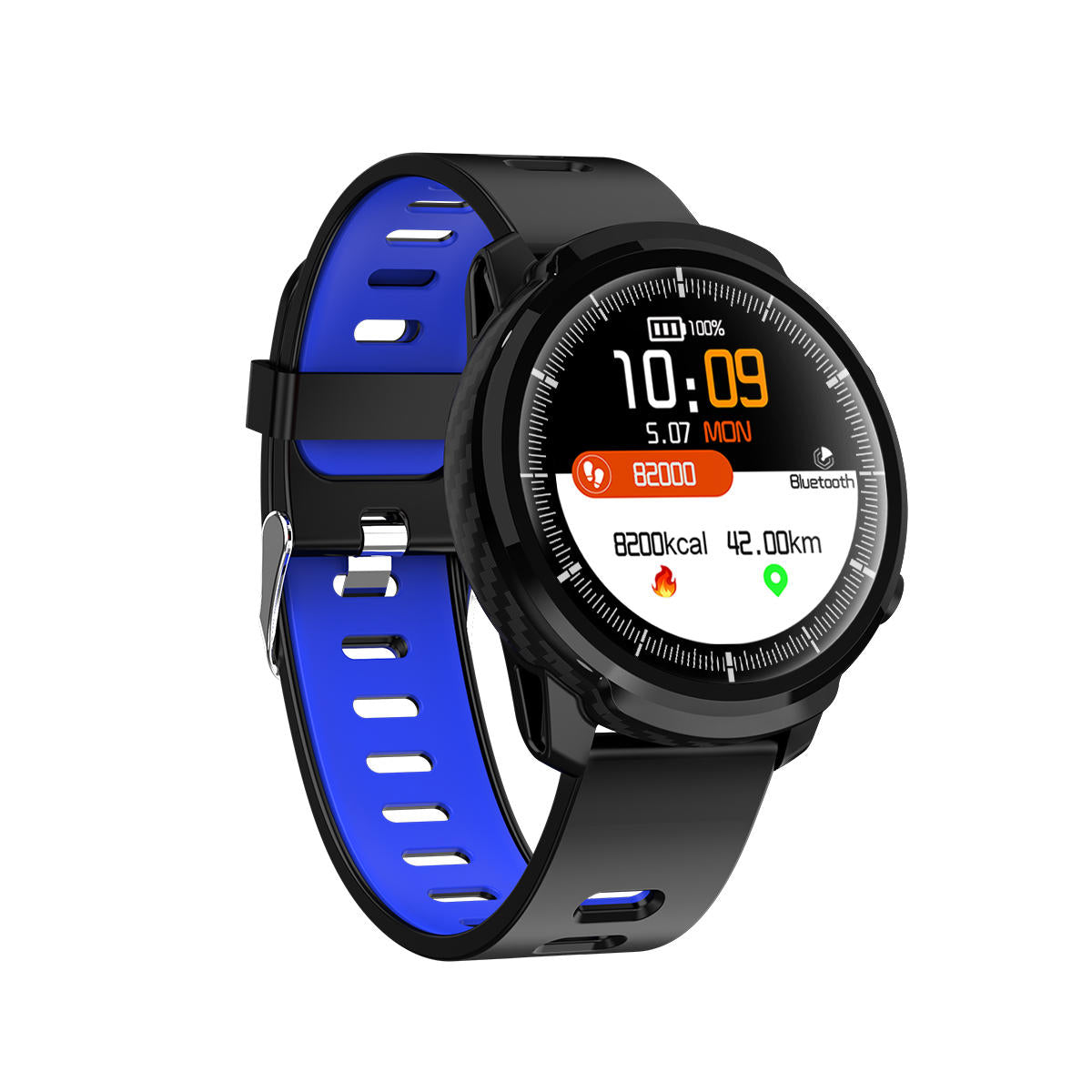 Bakeey S10 Full Touch HD Screen IP67 Wristband Blood Pressure and Oxygen Monitor Weather Display Smart Watch - Blue