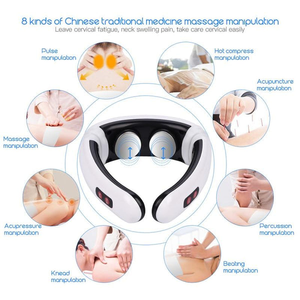 MassageMaster Electric Portable Heated Neck Massage Pain Relief