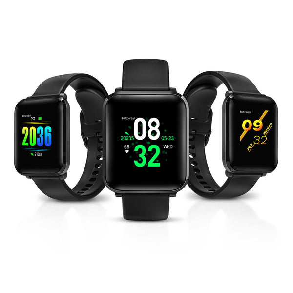 [New Released] BlitzWolf® BW-HL1 1.3' IPS 8 Sports Mode IP68 Multi-language Display HR Blood Pressure O2 15Days Standby Smart Watch  - Black