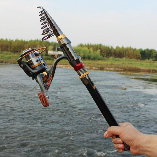 TELESCOPIC FISHING ROD & REEL COMBO