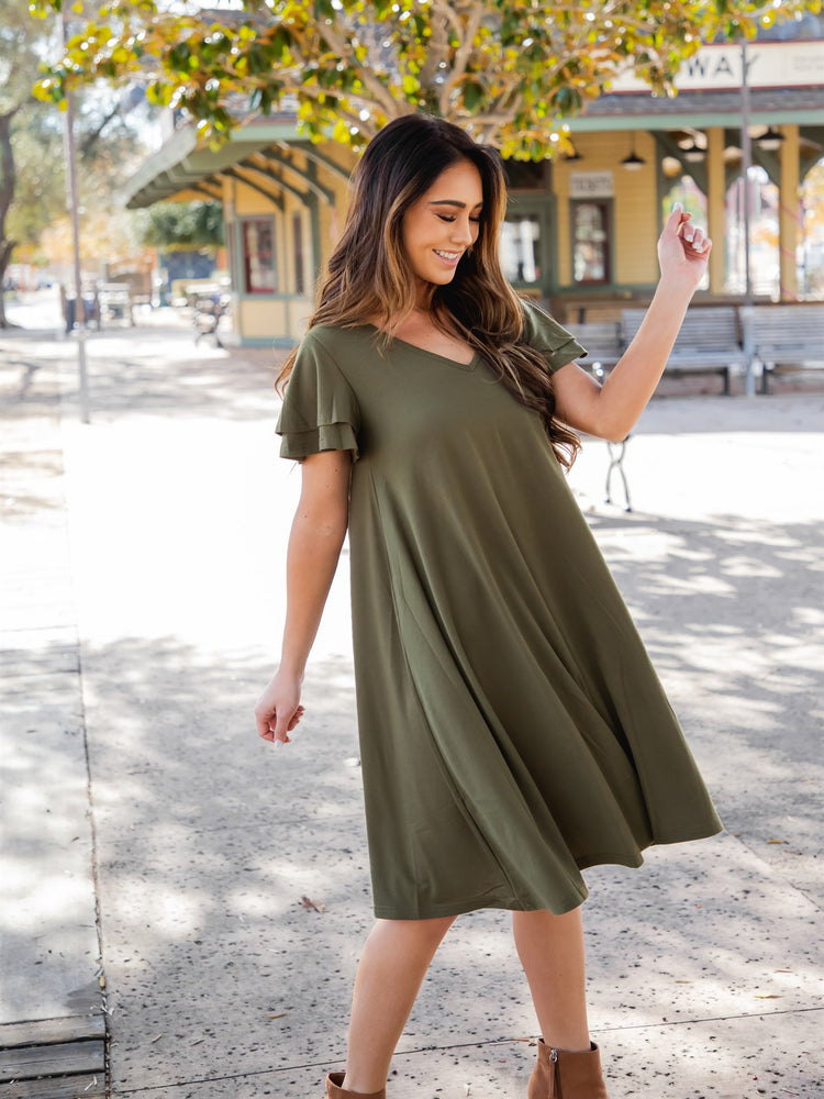 The Gabriella Dress - Olive