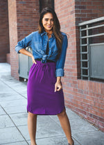 Solid Weekend Skirt - Purple