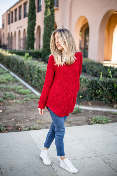 The Callie Sweater - Red