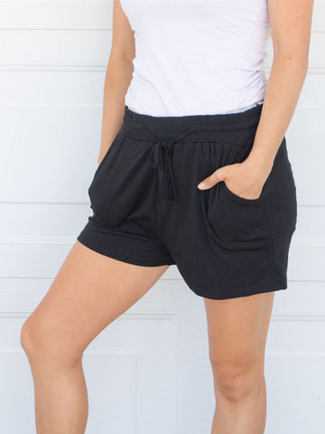 Solid Lounge Shorts - Black