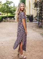 Relaxed Maxi Dress - Taupe Leopard