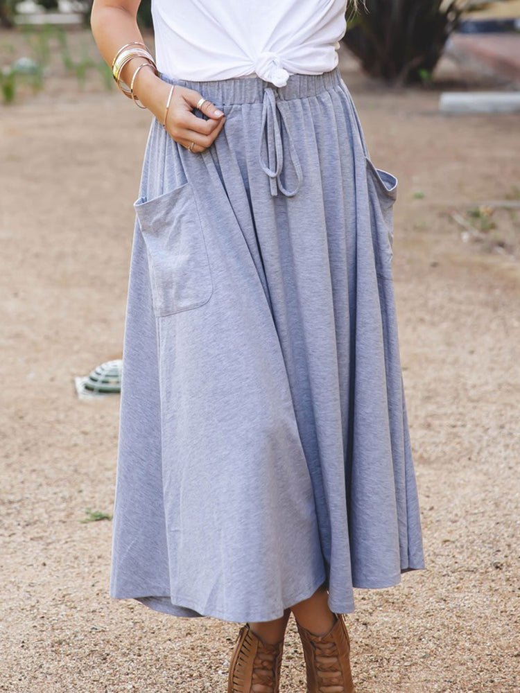 The Olive Pocket Skirt - Gray