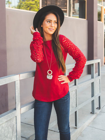 The Skylar Top - Red