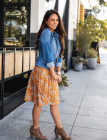Floral Laura Skirt - Orange