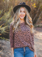 The Alex Top - Dark Brown Cheetah