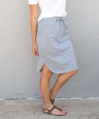 Solid Weekend Skirt - Gray - Tickled Teal LLC