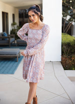 The Triana Dress - Tan Floral