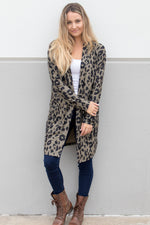 Animal Print Cardigan - Tickled Teal LLC