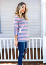 The Allie Top - Pink/Charcoal