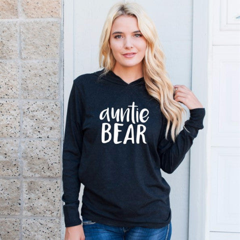 Auntie Bear Graphic Hoodie - Tickled Teal LLC