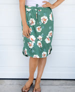 Floral Weekend Skirt - Green - Tickled Teal LLC