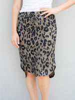 Cheetah Weekend Skirt - Brown - S-3X