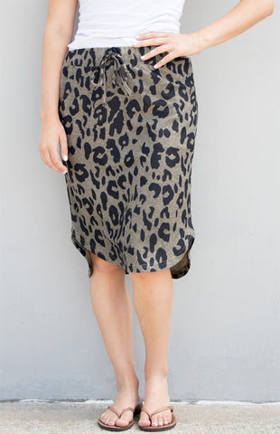 Cheetah Weekend Skirt - Brown - Tickled Teal LLC