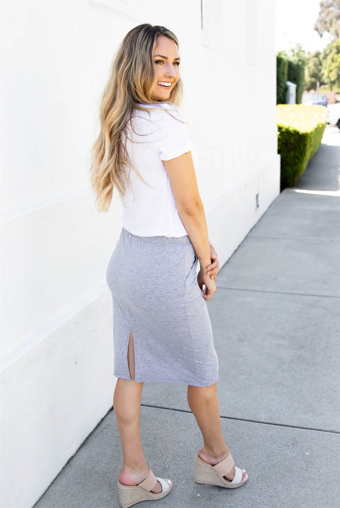 The Alexis Skirt - Gray