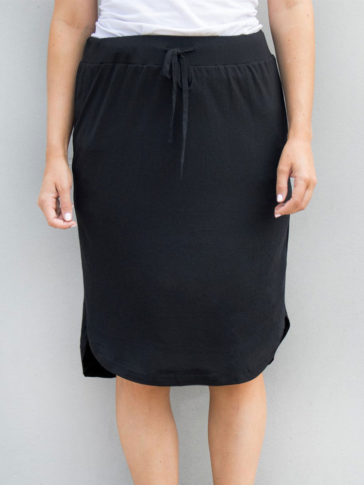 Solid Weekend Skirt - Black - S-3X