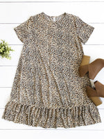 Rudy Dress - Small Brown Cheetah