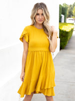 The Katie Dress - Mustard