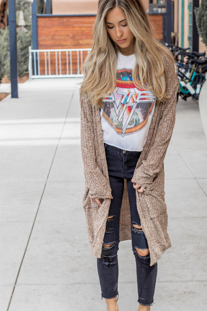 The Kelsea Cardigan - Tan - Tickled Teal LLC