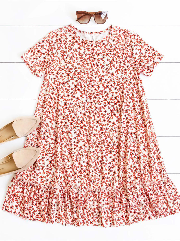 Rudy Dress - Small Red Floral
