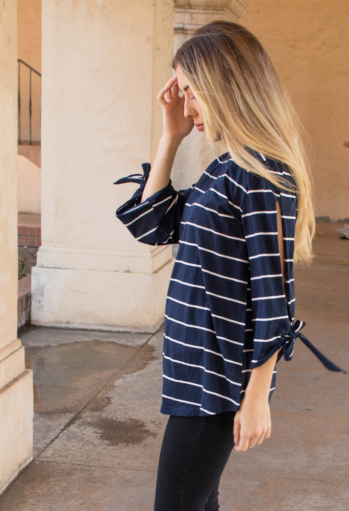 Noelle Top - Navy
