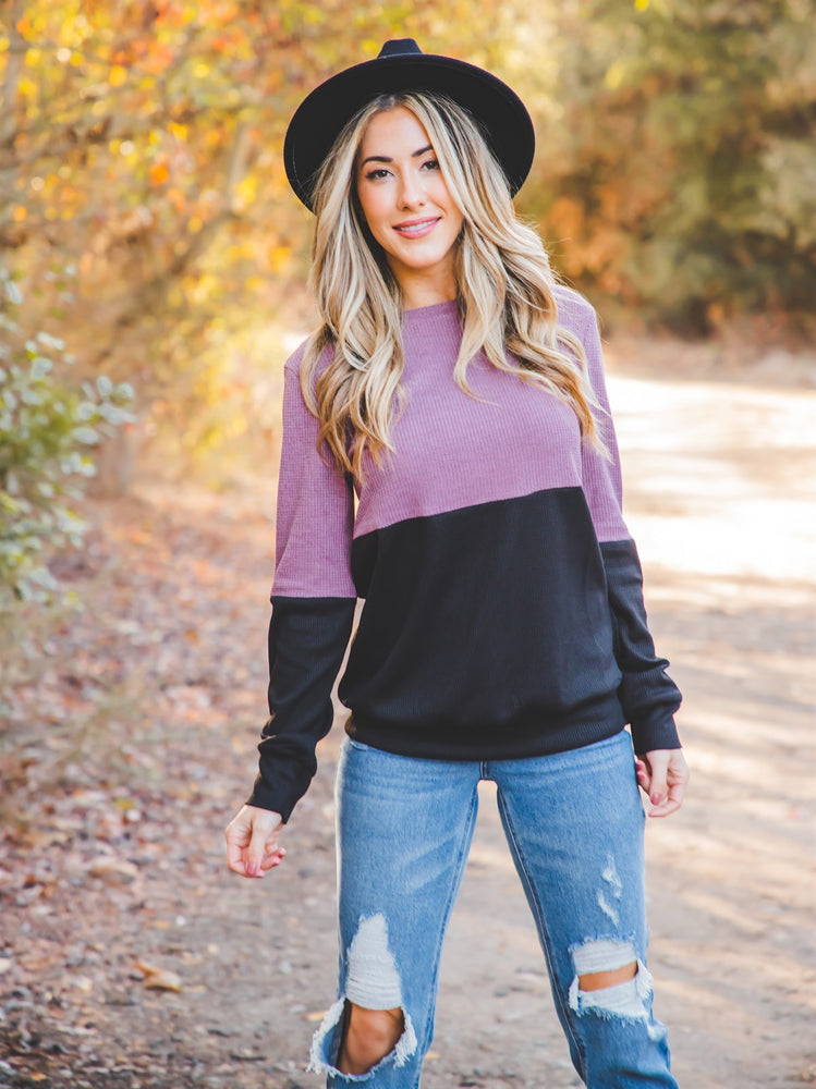 The Mel Top - Mauve