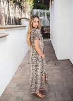 Python Relaxed Maxi Dress - Tan