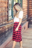 Buffalo Plaid Weekend Skirt - Red - Tickled Teal LLC
