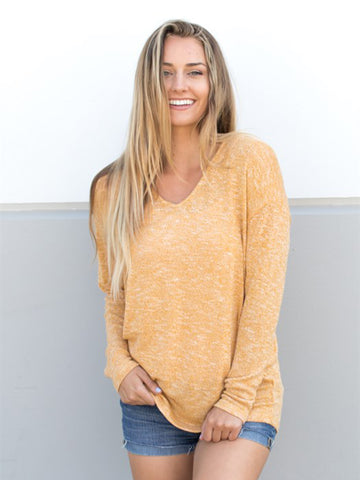 Lightweight Summer Sweater - Yellow