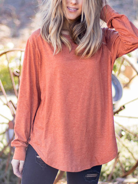 The Solid Mia Top - Orange