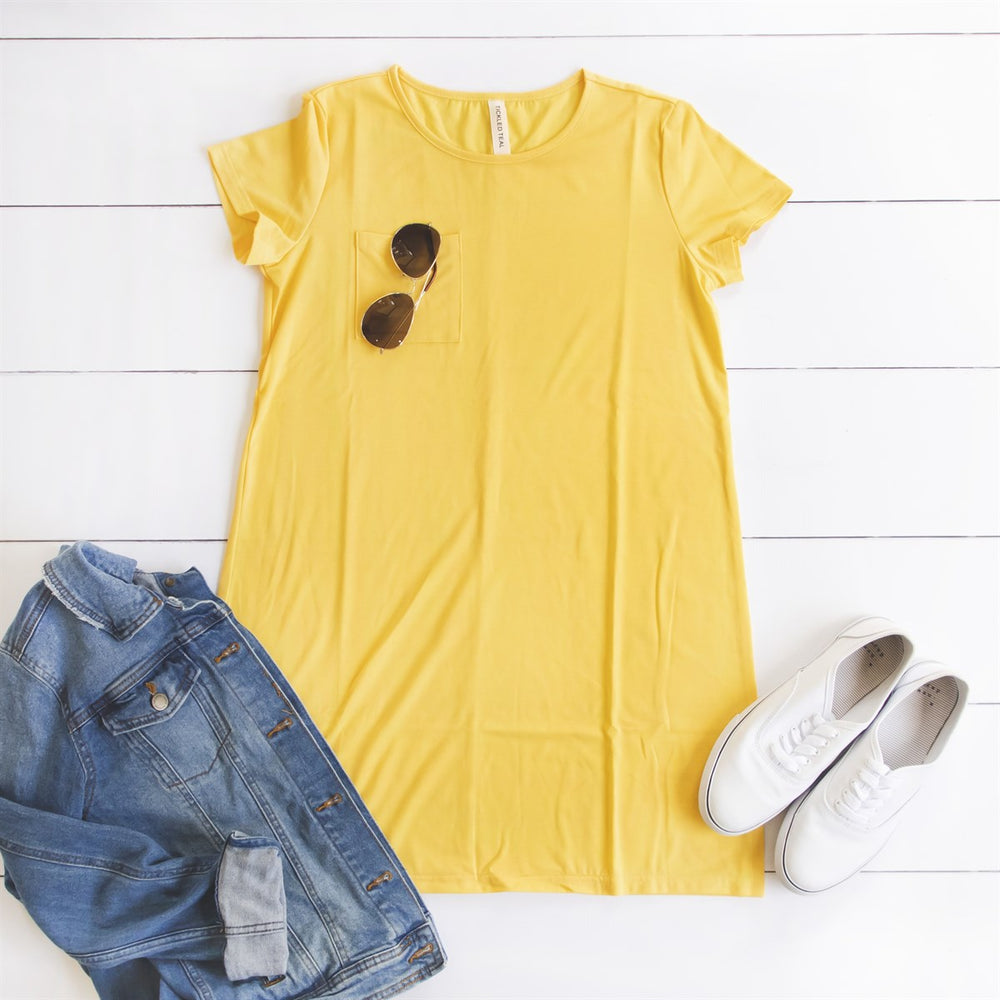 Heather Pocket Dress - Yellow